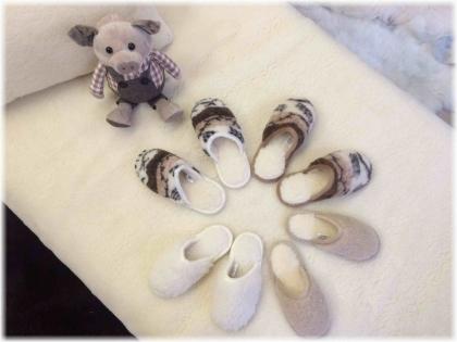 Foto Našuchovacie papuče vzorované /protišmyková podrážka