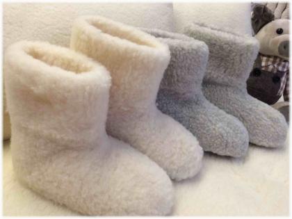 Foto Vlnené papuče vysoké ESKIMO / protišmyková podrážka