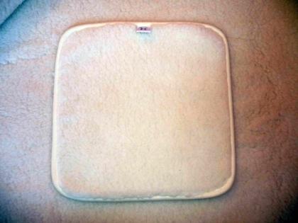 Foto Dvojvrstvová zateplená podložka, sedák na stoličku