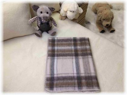 Foto Deka vlnená tkaná / jednovrst. svetlo- hnedá 70x90