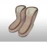 Foto Vlnené papuče vysoké vzorované / protišmyková podrážka