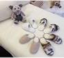 Foto Našuchovacie papuče prírodné smotanovo-biele /protišmyková podrážka